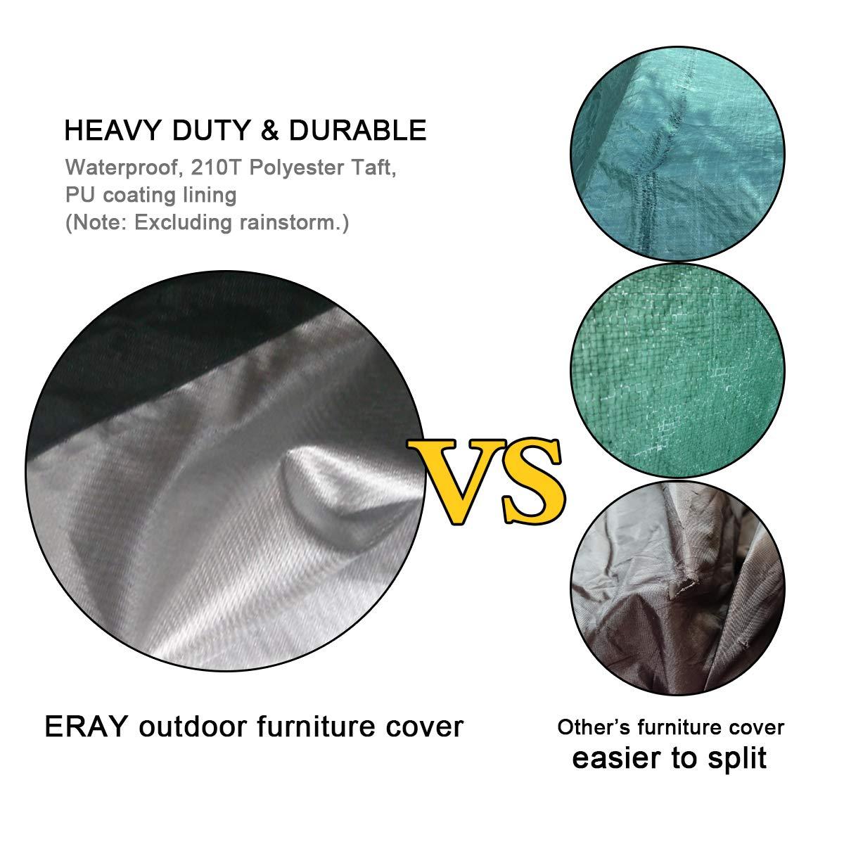 Impermeabile e Antipolvere colore Nero Telo da Copertura Protettiva ERAY per Mobili da Giardino dimenisoni 216x 173x 89cm// 7x 5.6x 2.9ft