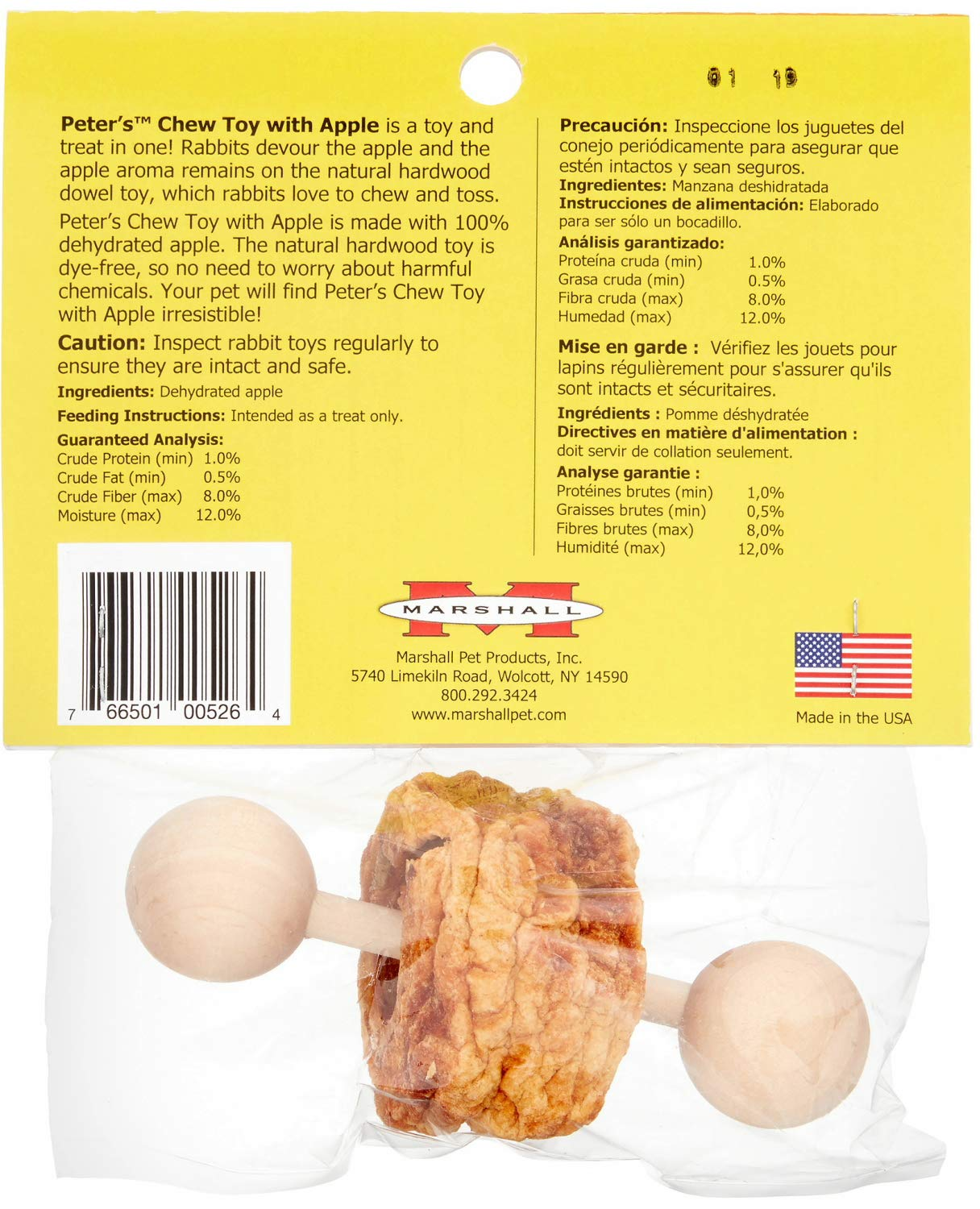 Peter's Chew Toy with Apple for Small Animals, 36 Pack by Marshall (Image #4)