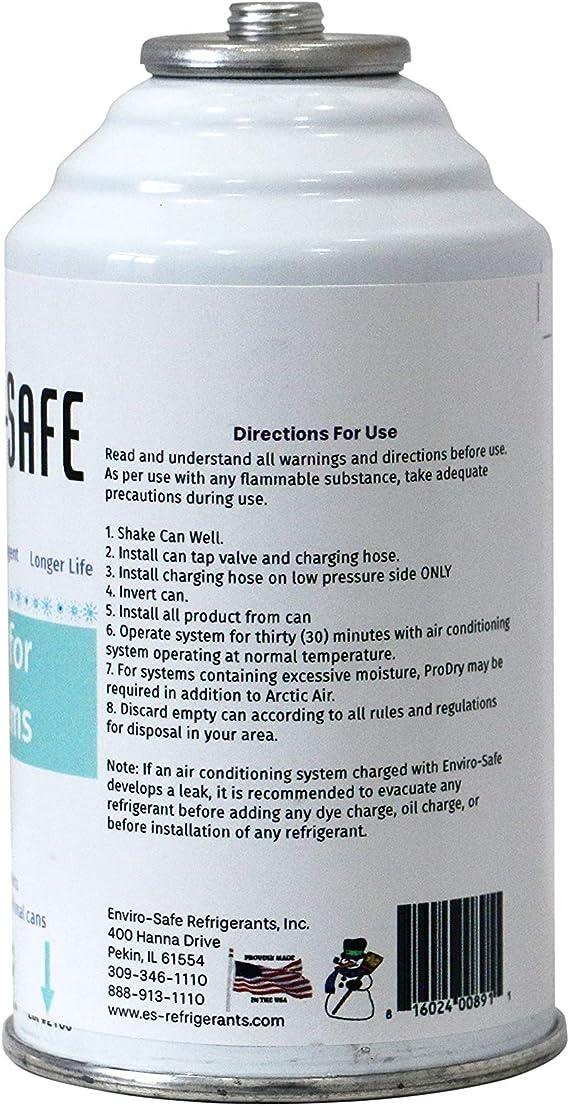 3 R22 Envirosafe, 4 oz cans and gauge Arctic Air R-22 R 22 Refrigerant