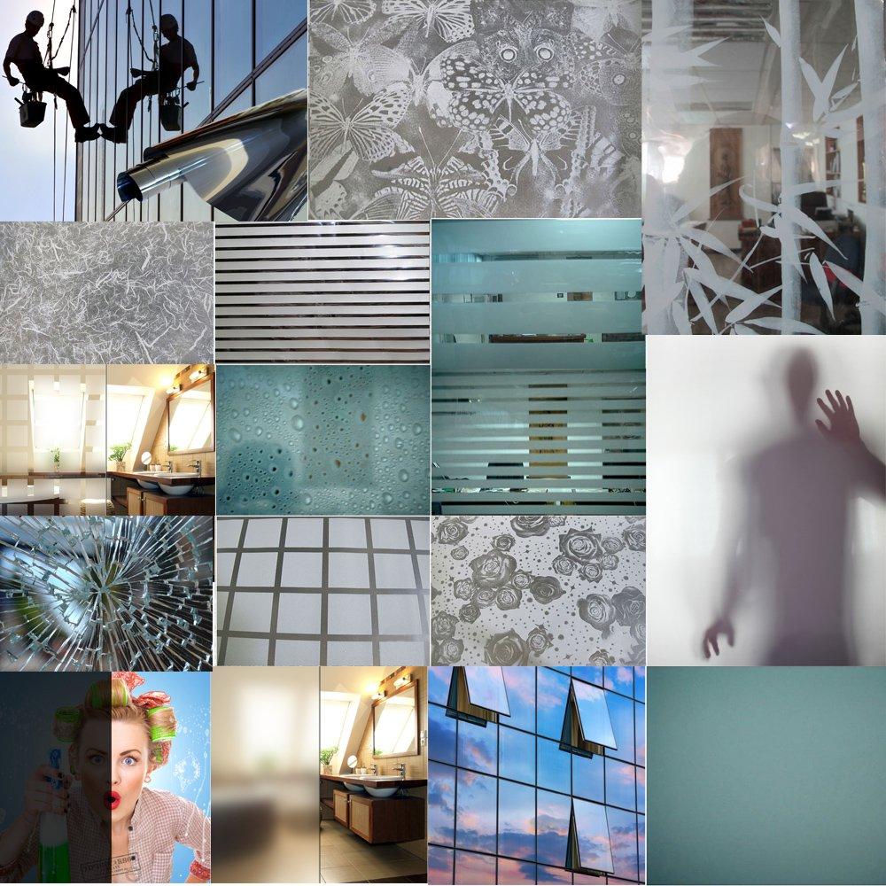 Fenster Spiegelfolie Blau Sichtschutzfolie 152cm Breite