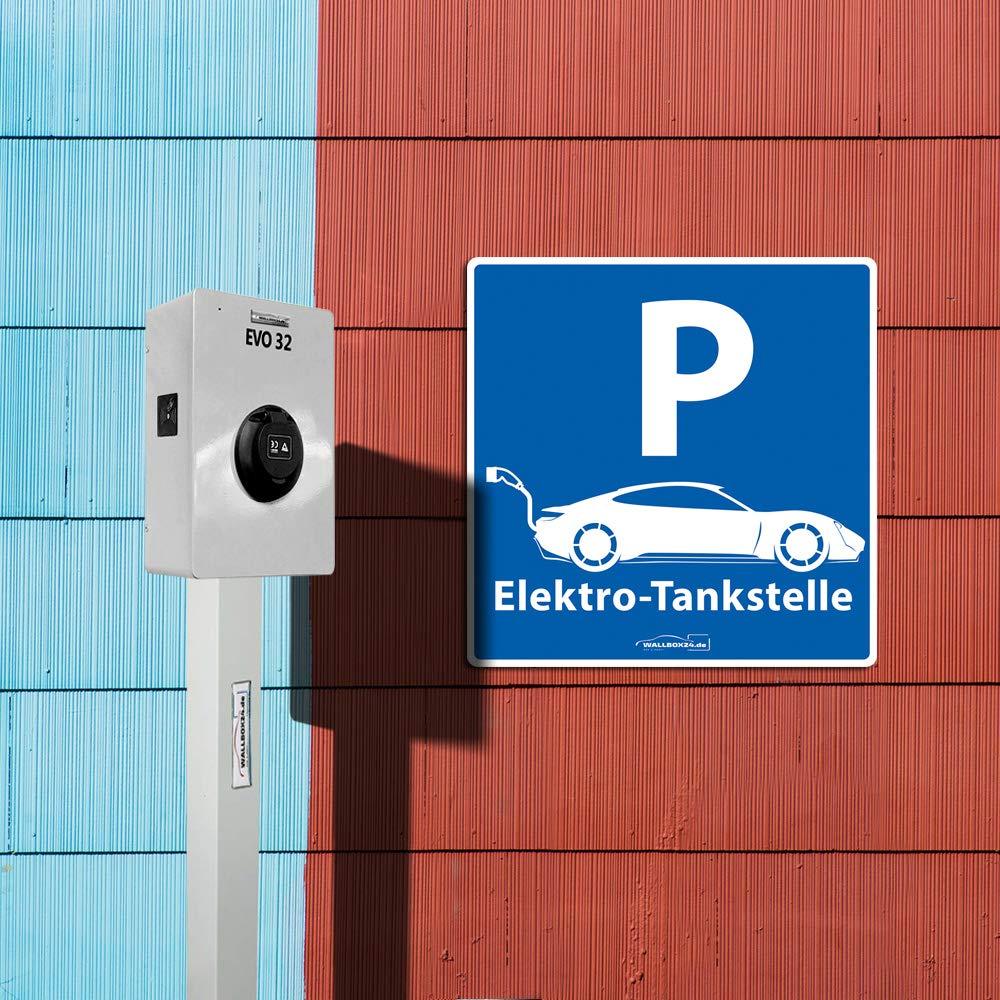 2 Aluminium witterungsbest/ändig reflektierend Zubeh/ör Elektromobilit/ät Wallbox24 Parkplatzschild E-Fahrzeuge Nr