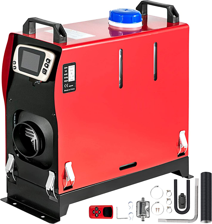 Mophorn Calentador de Diesel 12V 2KW Calentador de Aire de Diesel de Alumnio con Interruptor LCD y 1 Salida de Aire Calefación Estacionaria para Cochespara Camión Furgonetas RV Vehículos