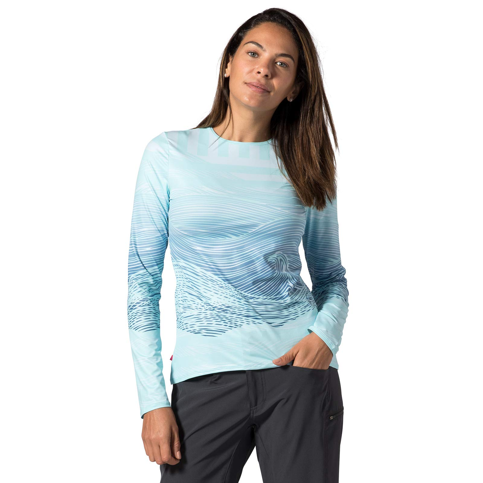 Terry Women's Soleil Flow Long Sleeve Athletic Top Loose Fit UPF 50+ Protection Lightweight - Seas The Day - Large by Terry