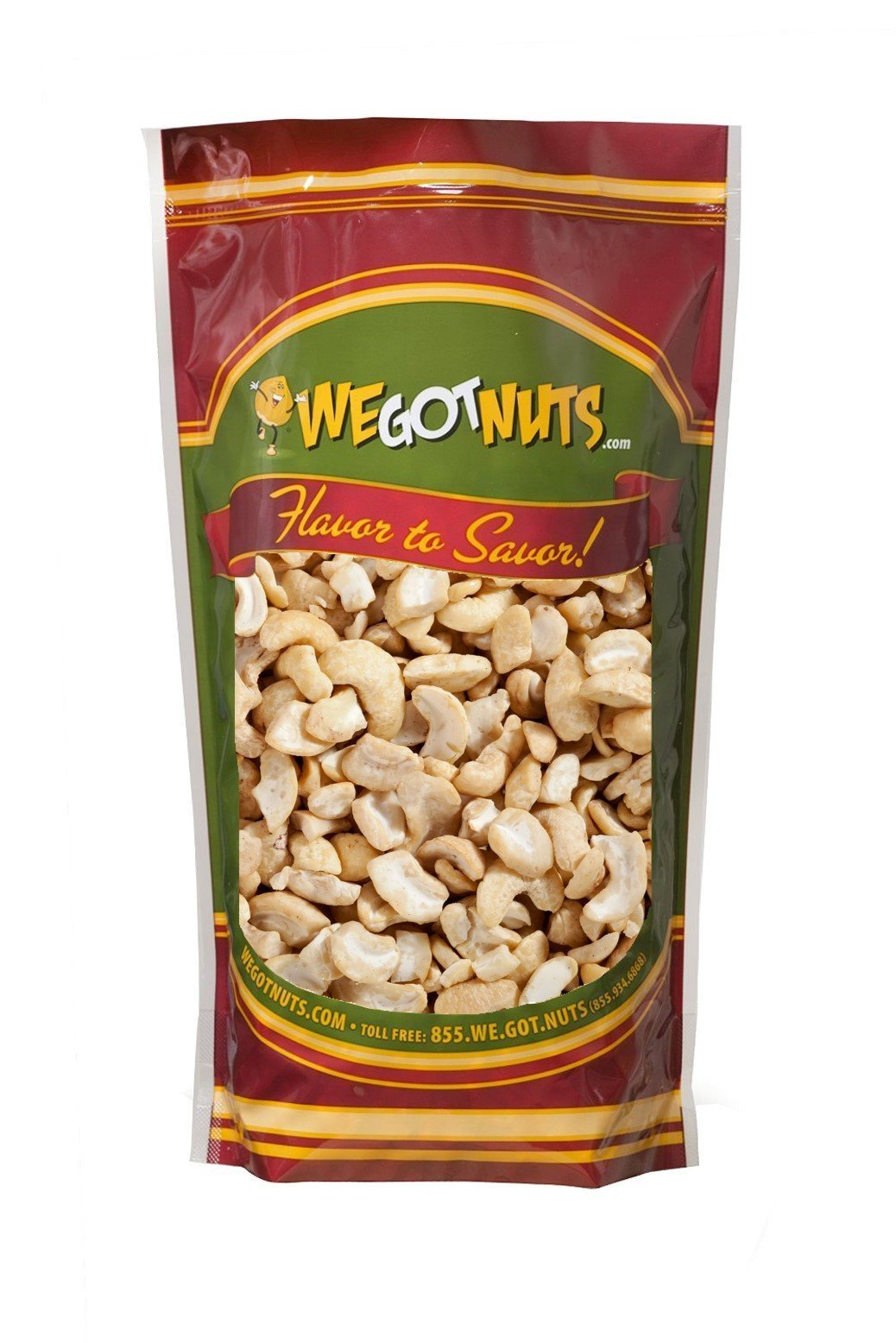 Raw Cashew Pieces By We Got Nuts: Unsalted &Unroasted Cashew Halves For Cashew Milk, Cheese &Butter -Delicious &Nutritious Snack, Packed FreshIn A Resealable Airtight Bag -3 Pounds by We Got Nuts