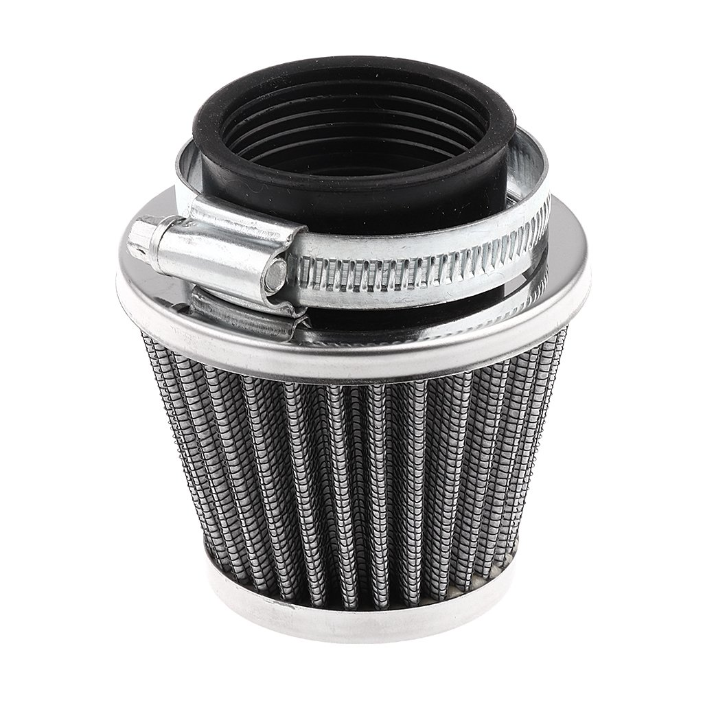 MagiDeal 1pc 39mm Cone Air Filter for 50cc 110cc 125cc 150cc 200cc Gy6 Moped Scooter Atv Dirt Motorcycle Stainless steel lens, blue color