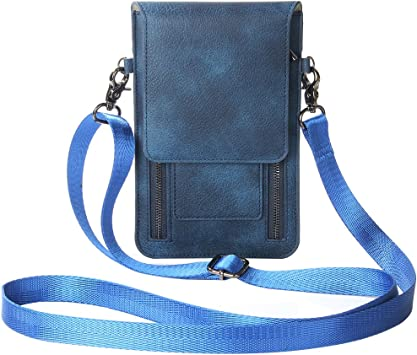 Zipper Phone Bag, Asnlove Premium PU Leder Crossbody