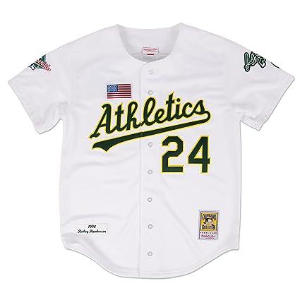 pretty nice 95f53 a5310 Amazon.com : Mitchell & Ness Rickey Henderson Oakland ...