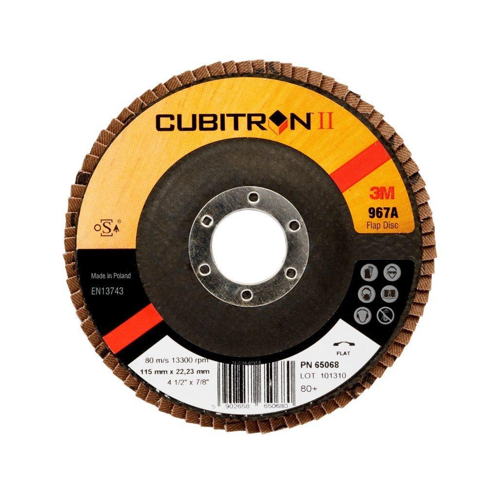 40/+ 115 mm 22.23 mm Conica 1/Pezzo//Cartone 3M Cubitron II Disco Lamellare 967/A