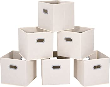 6-Pack MaidMax Foldable Cloth Storage Cube