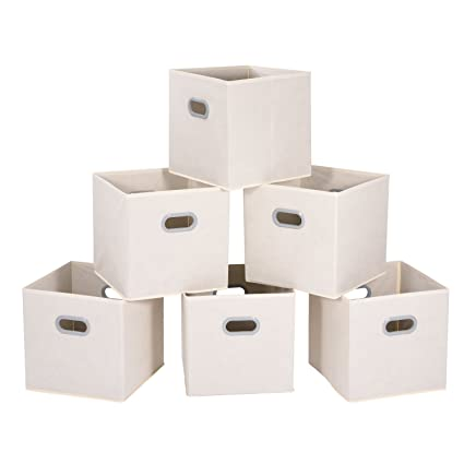Merveilleux MaidMAX Cloth Storage Bins Cubes Baskets Containers With Dual Plastic  Handles For Home Closet Bedroom Drawers