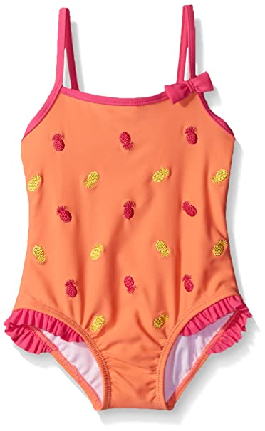 a7b3f220a98 Tommy Bahama Girls' One Piece Pineapple Swimsuit
