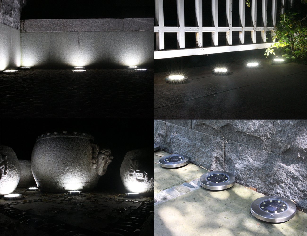 Led lampada perle solare luce esterna giardino illuminazione
