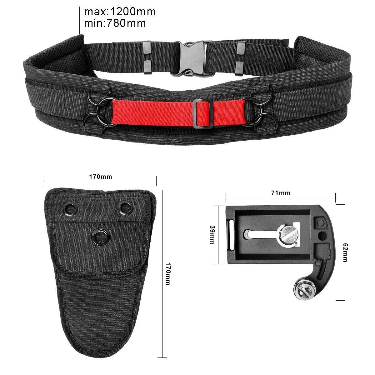 Ultimaxx Rapid Fire Camera Belt with Quick Release Camera Clip and Holster