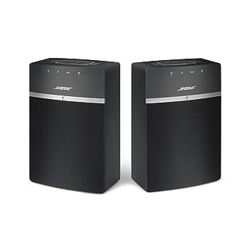Bose SoundTouch 10 Wireless Music System, Starter Pack - Black, Bundle of 2