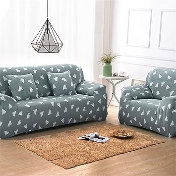NHockeric 100% Polyester Sofa Cover Elastic Spandex Stretch Pastoral capa de sofa fabric cover funda sofa Slipcover Printed 1 Seats 90-140cm, Printed ...