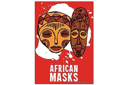 Iman Nevera Aventurero Máscaras africanas: Amazon.es: Deportes y ...