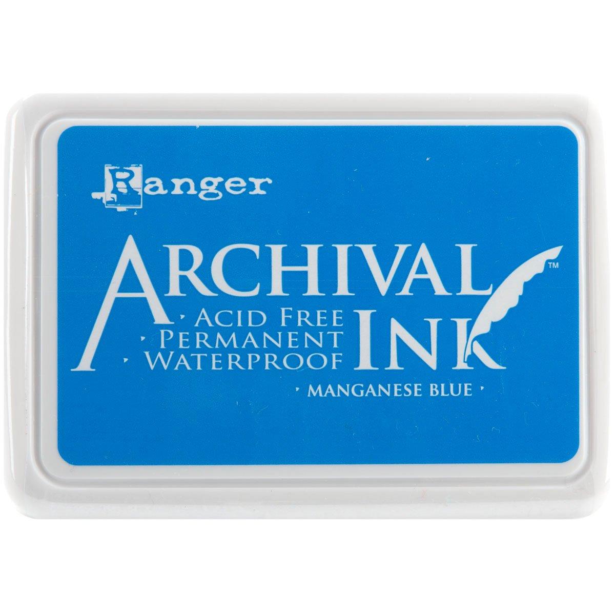 Archival Inkpad #0-Manganese blu Ranger AIP-30454