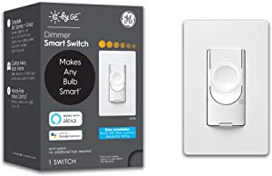 C by GE 3-Wire Smart Switch - Dimmer - Works with Alexa + Google Home Without Hub, Single-Pole/3-Way Replacement, White