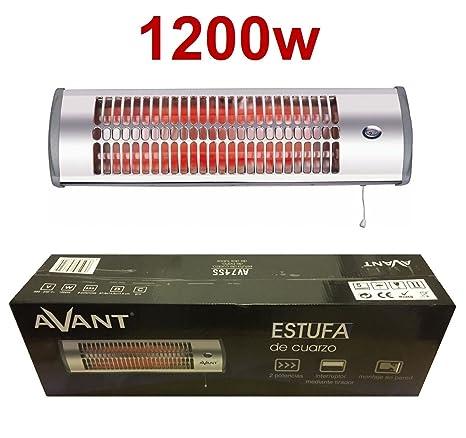AVANT Estufa de cuarzo 1200W Calefactor Calentador Radiador casa baño Pared halogeno