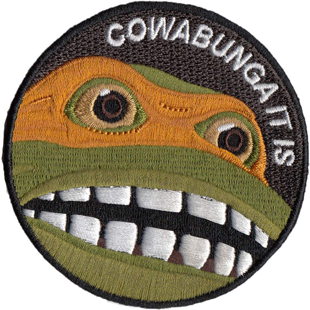 Bitway Tactical Cowabunga It is Embroidered Hook-Backed Morale Patch