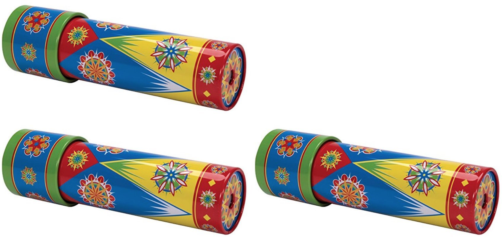Schylling Classic Tin Kaleidoscope Party Set Bundle - 3 Pack For Ages 3+ Amaze your eyes with brilliant colors and patterns from our unique tin kaleidoscopes!