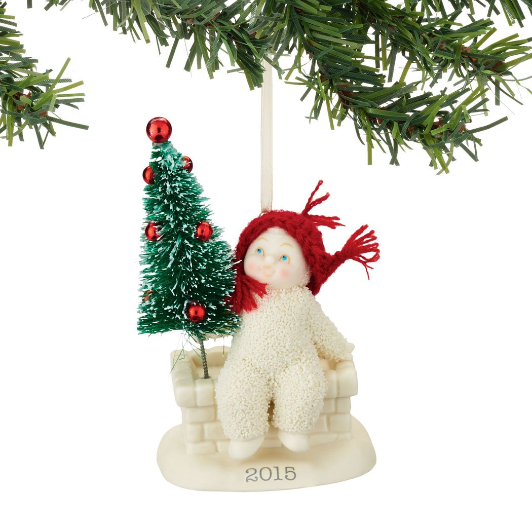 Amazoncom Department 56 Snowbabies 2015 Dated Ornament Tree Top