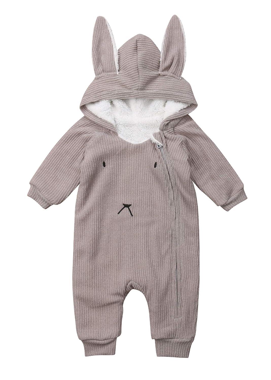 Urkutoba Baby Bunny Ear Hoodie Fleece Coat Cloak Jacket Zipper Hoodie Cardigan Sweater Pullover Sweatshirt Knitted Hoodie