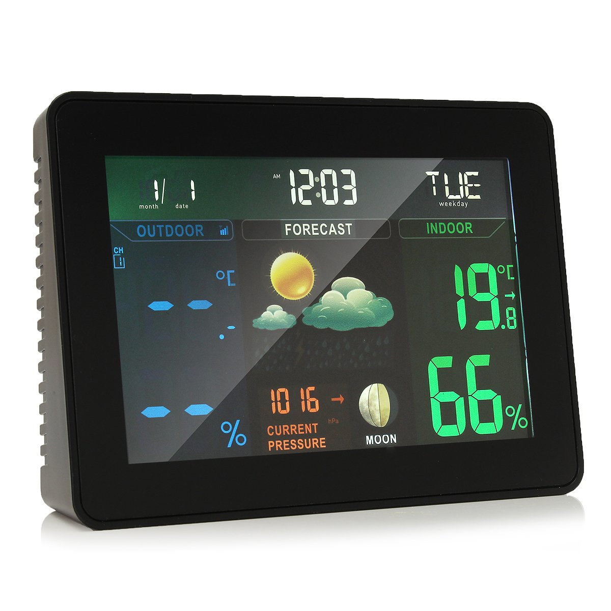 INNI Wireless Colorful Wireless Weather Station Forecast Indoor/Outdoor Thermometer