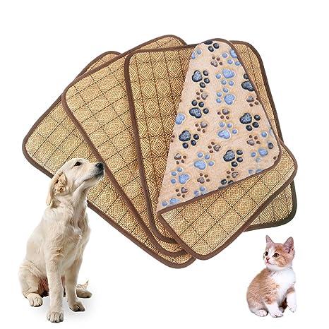 Idepet Colchoneta de refrigeración de doble uso para mascotas, para perros y gatos adultos y. Pasa el ...