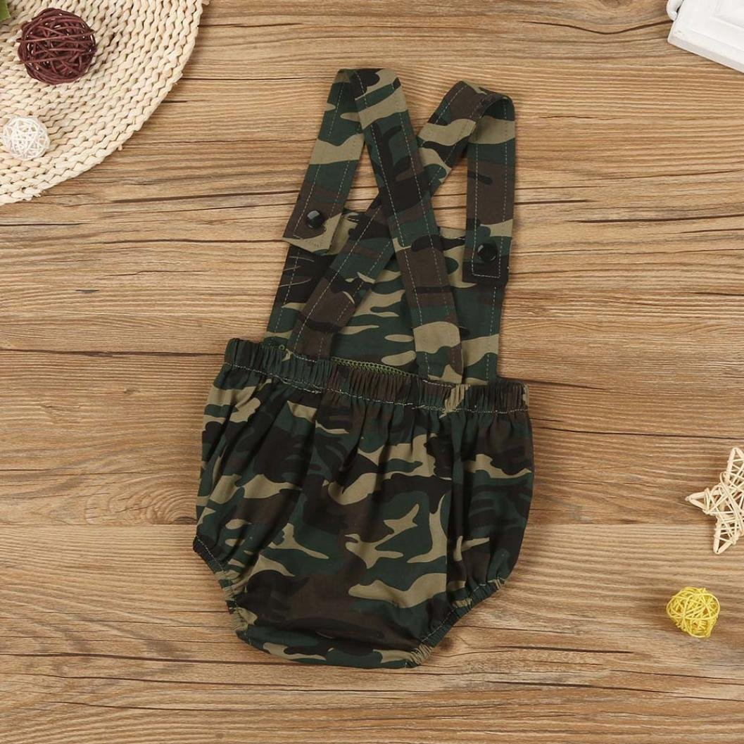 Newborn Infant Romper Baby Kids Boys Girls Camouflage Sleeveless Romper Bodysuit Jumpsuit Outfit Clothes Bestow Baby Rompers