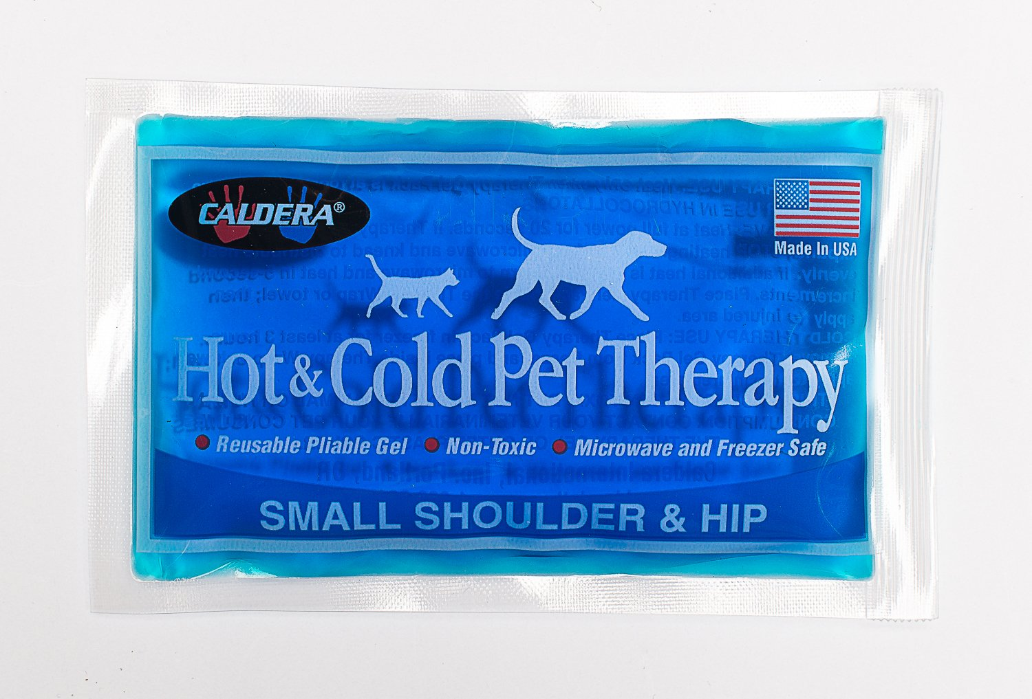 Caldera Pet Therapy Hip Wrap with Gel, Small, Black