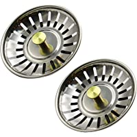 Tongke 80MM Sink Strainer Stainless Steel Kitchen Sink Waste Plug Drain Stopper Basket Filter-
