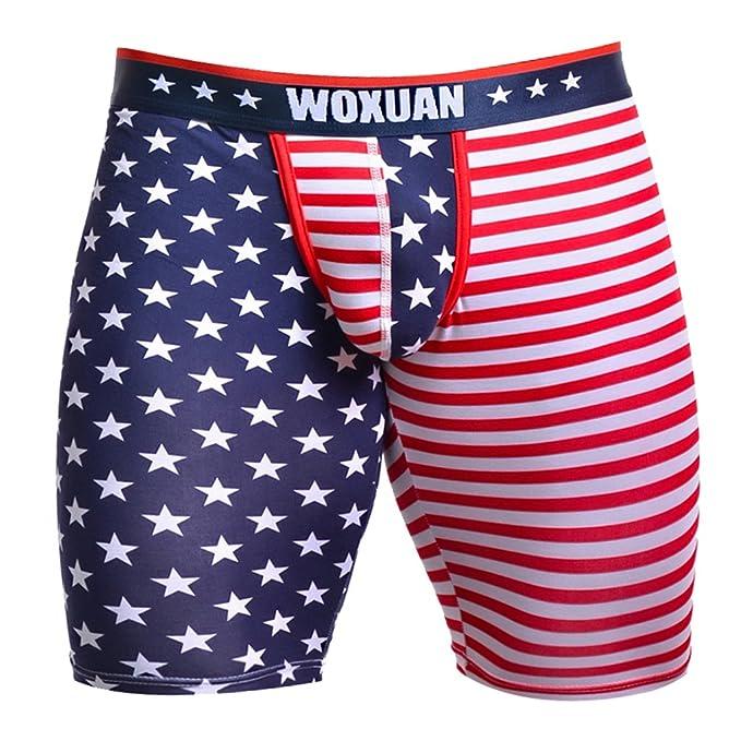 Calzoncillos Bandera Americana Impresa Ropa Interior De Hombres Cortocircuitos Boxeadores - Multicolor, S