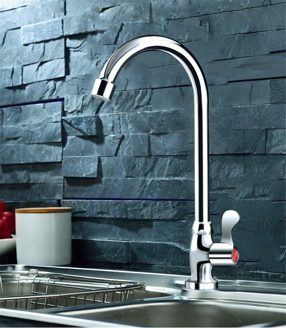 MEIBATH Waschtischarmatur Badezimmer Waschbecken Wasserhahn Küchenarmaturen Dragon Kaltes Wasser Drehbar Küchen Wasserhahn Badarmatur