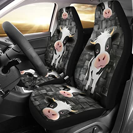 Paws With Attitude Cute Cow Print Car Seat Covers