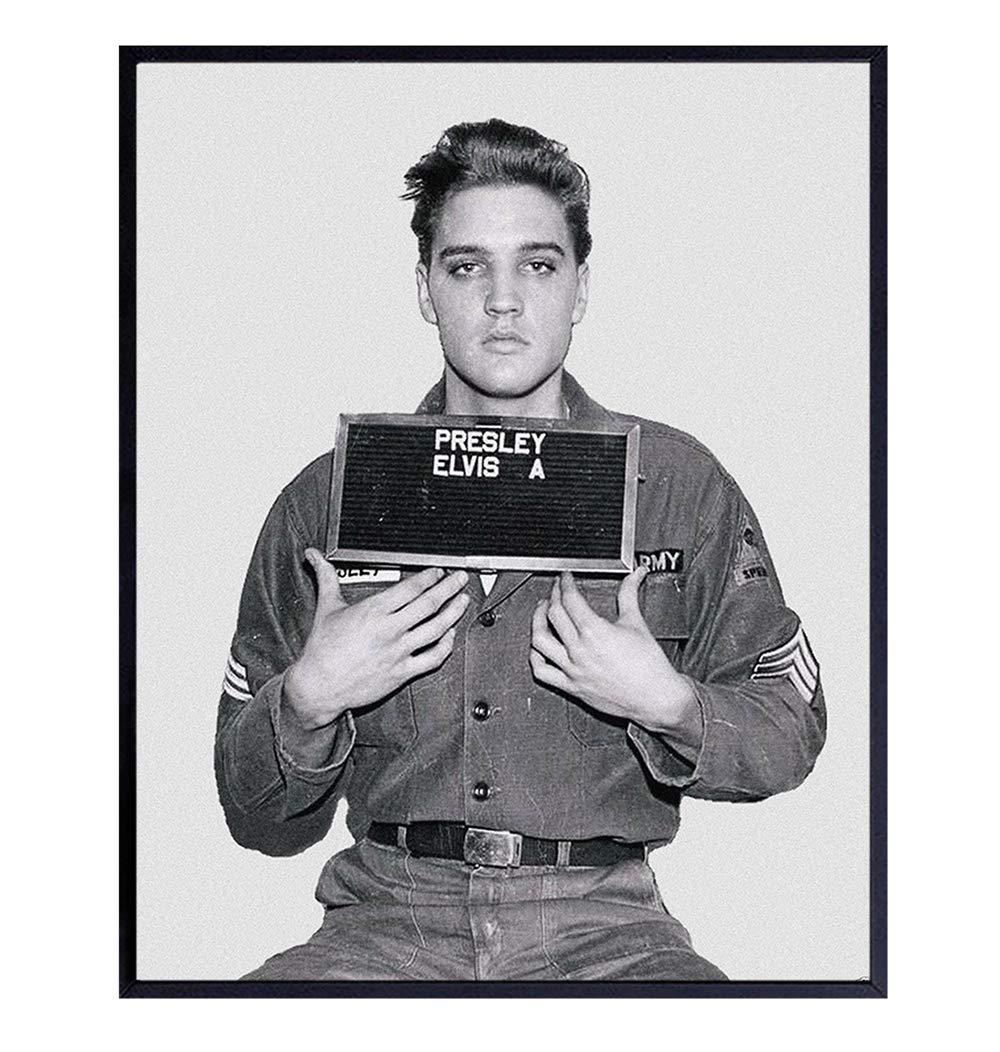 Amazon.com: Vintage Elvis Presley Army Draft Photo, Wall Decor Art Print -  Classic 8x10 Poster Print for Fans of Graceland, The King: Handmade