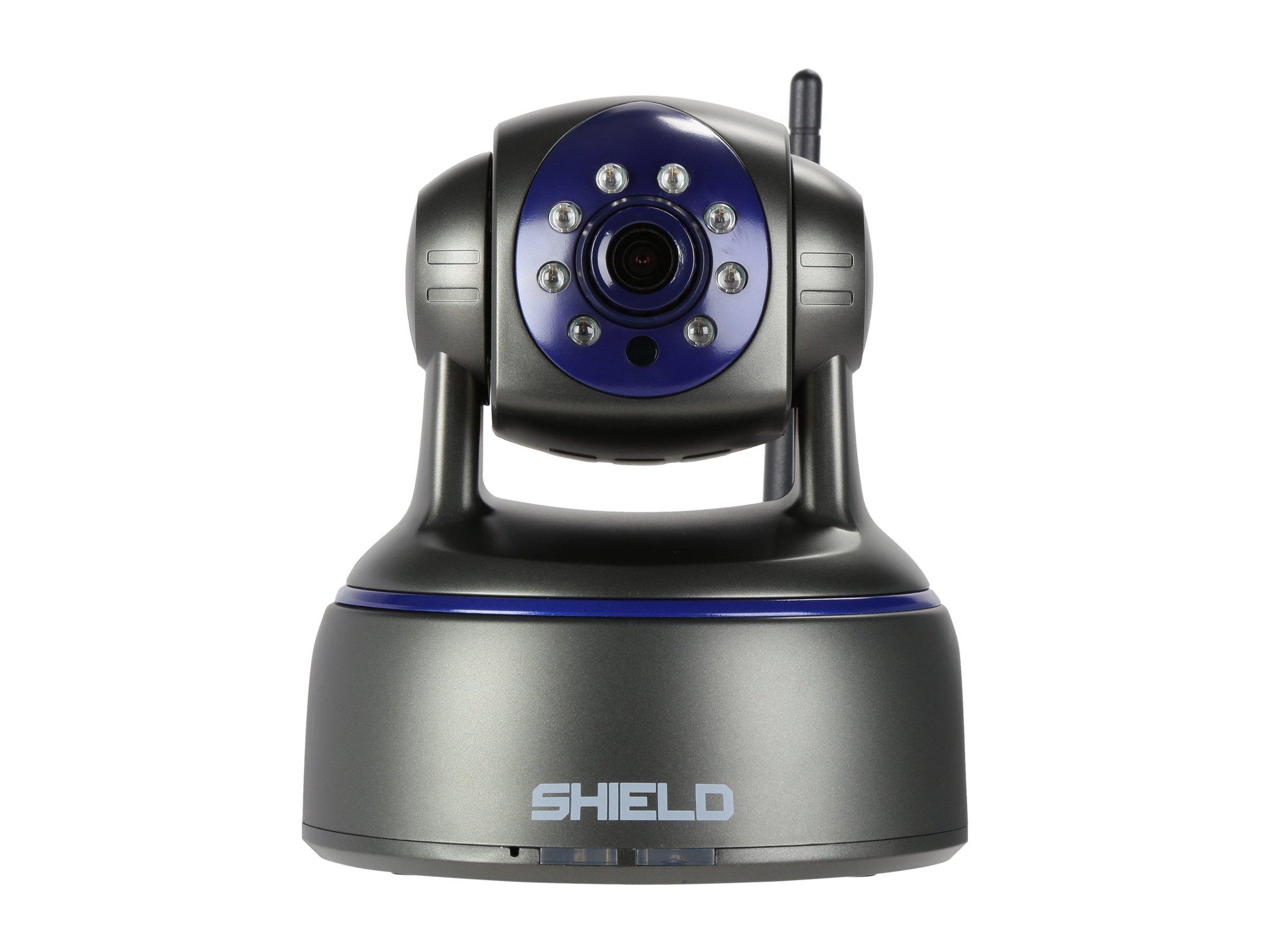 SHIELDeye HD Surveillance Security Camera, 1080P WiFi & Wireless IP Camera, Night Vision, Pan & Tilt, 2 Way Audio and Remove Viewing for Pet / Baby / Elder / Nanny Monitors, Free App download-Black