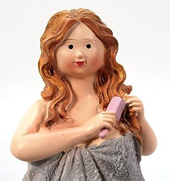 Amazon.de: Badezimmer Figur mit Handtuch und Kamm stehend 14 cm für ...