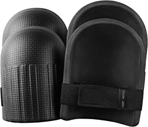 Tomorotec [2 Pairs] Light Weight Waterproof Home and Gardening Knee Pads with Adaptable Straps, Durable and Soft EVA Foam Cushion