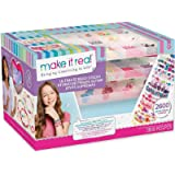 Make It Real - Ultimate Bead Studio. DIY Tween Girls Beaded Jewelry Making Kit. Arts and Crafts Kit Guides Kids to…
