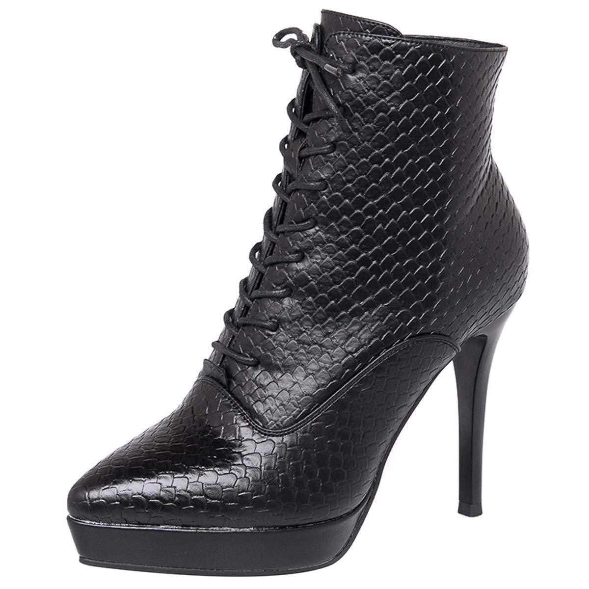 KPHY Damenschuhe Winter Flanell Absatz 10 cm Hoch Baumwolle Schuhe Schuhe Schuhe Spitze Dünne Sohle Schuhe Mode Baitie Martin Stiefel 0f772e