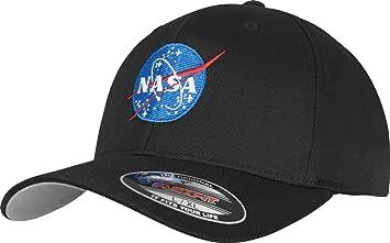 788c503c19 Mister Tee Casquette Flexfit, Logo NASA, Noir, 2 Tailles Disponibles S Noir