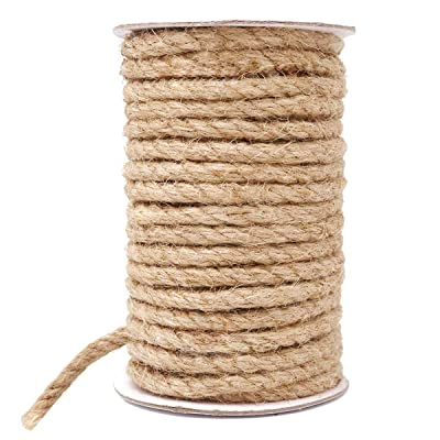 HOMYHOME Jute Rope Natural Jute Twine 8 mm Rope Cord Craft for Packaging Arts Crafts Decoration Bundling Gardening Home 15M : Office Products