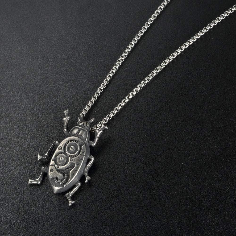 Wyanger Fashion Mechanical Gear Pendant Necklace Vintage Hip Hop Punk Necklace