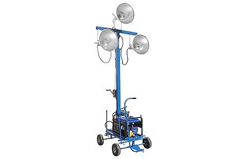 Watt mini luce torre con tre lampade ad alogenuri metallici