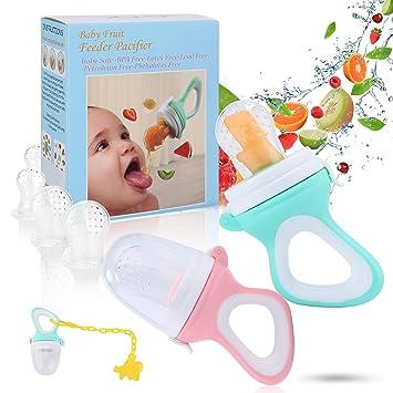 Amazon.com: Chupete alimentador de frutas para bebés ...