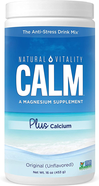 Natural Vitality Calm PLUS Calcium Supplement Powder, Original - 16 ounce