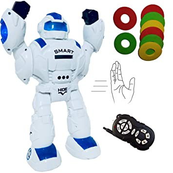 IRON SOLDIER 2018 Remote Control Robot for Kids - RoboShooter Blue Light  Robot Toy for Boys Aged 5+