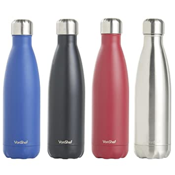 Termo de Acero Inoxidable VonShef con Aislamiento de Doble Pared Hermético para Agua / Bebidas /