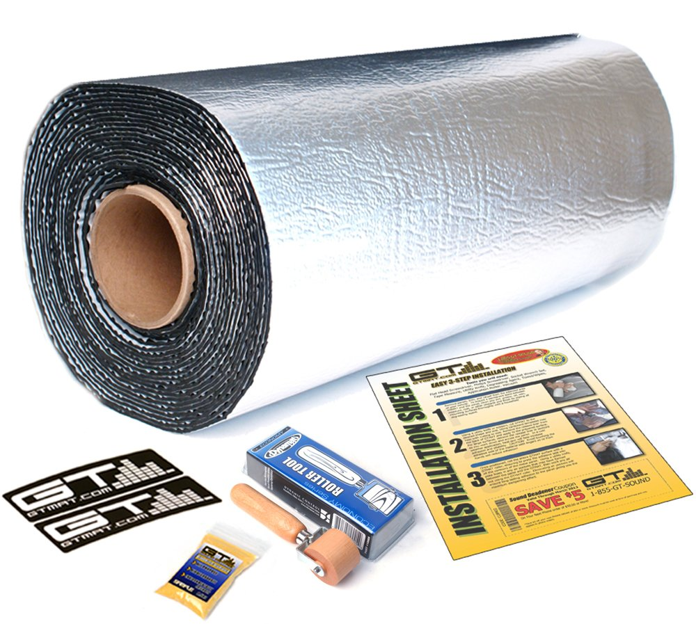 10 sqft GTmat Ultra 80mil Roll (18''x6'8'') Automotive Audio Sound Deadener Deadening Noise Dampener with Genuine Dynamat Roller